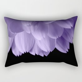 Ultra violet purple flower petals black Rectangular Pillow