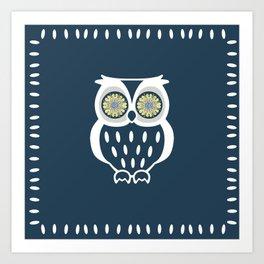 Bright Eyed Owl Art Print