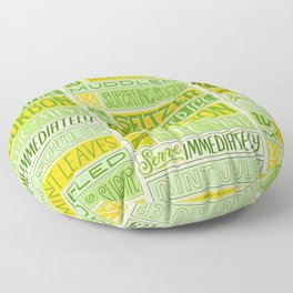 Mint Julep Floor Pillow
