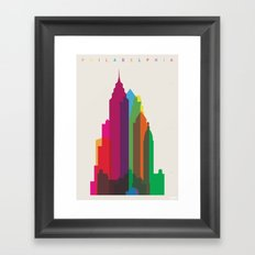 Shapes of Philadelphia accurate to scale Framed Art Print