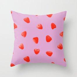 Raspberry Heaven Throw Pillow
