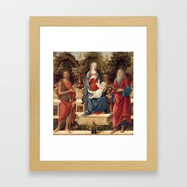 Madonna with Saints by Sandro Botticelli, 1485 Framed Art Print