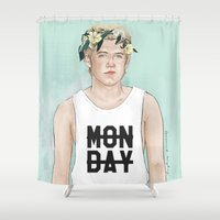 coconutwishes Shower Curtains featuring Flower crown Niall by Coconut Wishes