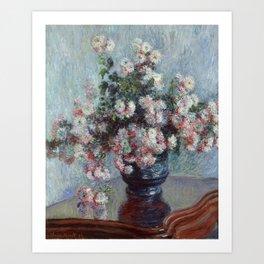 Monet - Chrysanthemums Painting Art Print