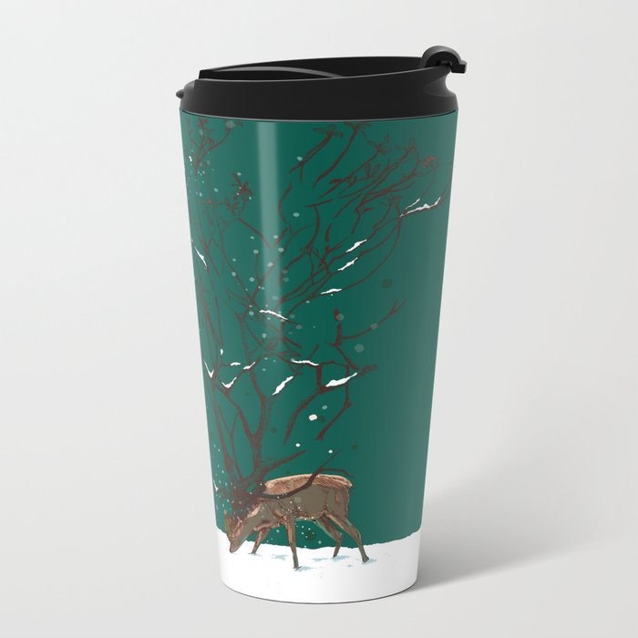 Winter Is All Over You Metal Travel Mug