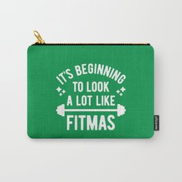 It's Beginning To Look A Lot Like Fitmas (Funny Christmas Gym Pun) Carry-All Pouch