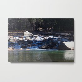Cascades in Sun and Shadow Metal Print