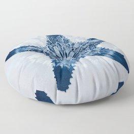 Starfish Mandala Indigo Blue Tie Dye Floor Pillow