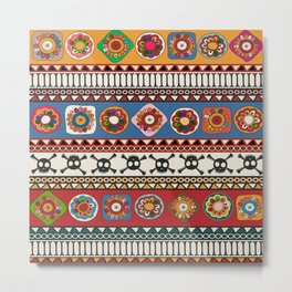 Aztec background Metal Print