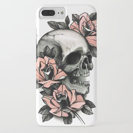 Skull and roses - tattoo iPhone Case