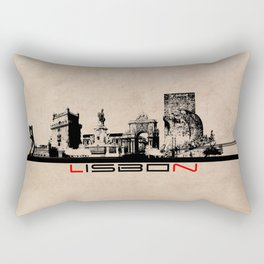 Lisbon skyline city elegant Rectangular Pillow