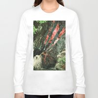 waterfall Long Sleeve T-shirts featuring waterfall by Caroline A