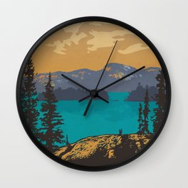 Killarney Park Poster Wall Clock