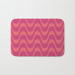 Rio - Living Coral Pink Peacock Beach Waves Bath Mat