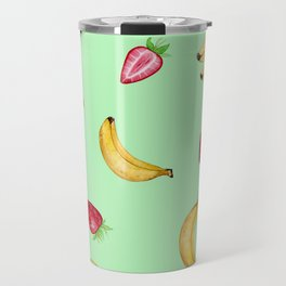 BANANAS & STRAWBERRIES Travel Mug