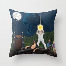 Jurassic Wars Throw Pillow