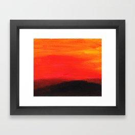 Red landscape Framed Art Print