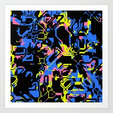 Color Distraction Art Print