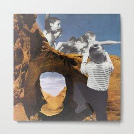 Desert Swimming Hole (Collage) Metal Print