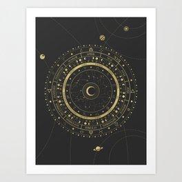 Lunar Calendar 2021 Art Print
