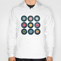 vinyl Hoodies featuring Vinyl Collection by Cassia Beck