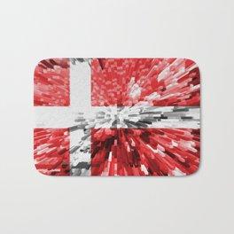 Extruded Flag of Denmark Bath Mat