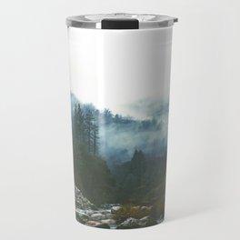 Into the foggy woods - Nature Landscape Photography Travel Mug