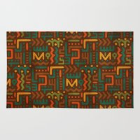 african Area & Throw Rugs featuring African by Arcturus