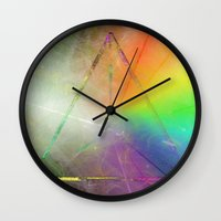 prism Wall Clocks featuring Prism by Randomleafy