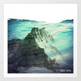 Underwater Mountain Art Print