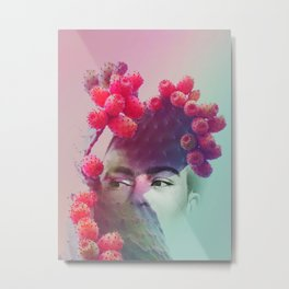 Succulent Frida #buyart #surreal Metal Print