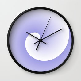 Wave, in white and purple Wall Clock