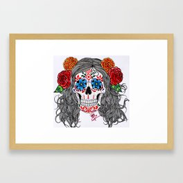 Doodle of the Day: La Catrina Framed Art Print