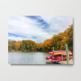 Fall at Quiet Waters Metal Print