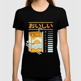 Japanese Aesthetic Orange Juicebox T-shirt