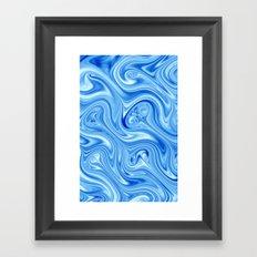 Ice Flow Framed Art Print