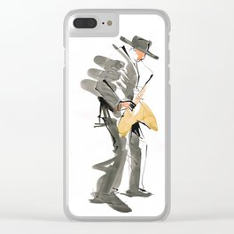Musician Jazz Saxophone Clear iPhone Case
