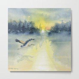Flying Home - Great Blue Heron Metal Print