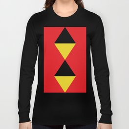 Other Rhombuses, one on another, floating in a red sea. Long Sleeve T-shirt