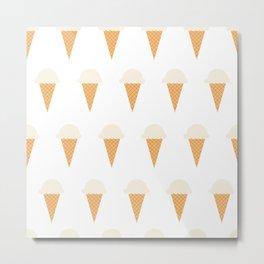 Vanilla Ice-creams Metal Print