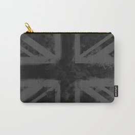 Black UK Flag Carry-All Pouch
