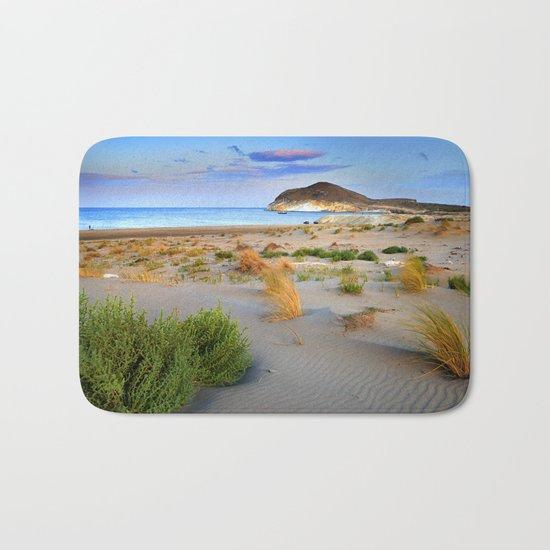 """Genoveses Beach"" Sunset at beach Bath Mat"