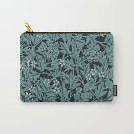Vintage Blue Lillies Carry-All Pouch