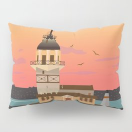 Istanbul Illustration Pillow Sham
