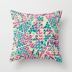 Triangle pattern. Throw Pillow