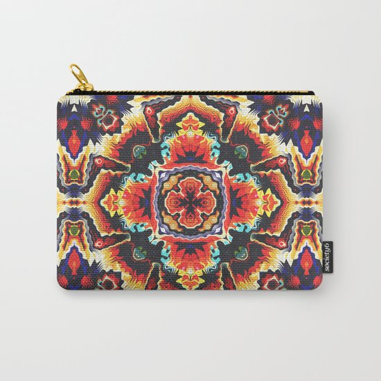 Geometric Motif Carry-All Pouch