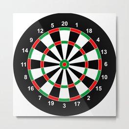 darts game board classic target  Metal Print