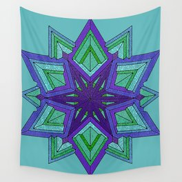 Star Violets Wall Tapestry