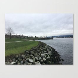 New Brighton Park in January Canvas Print