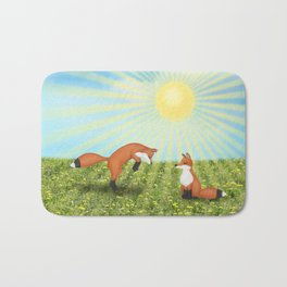 sunshine fox fun Bath Mat